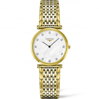 Ladies Diamond Set La Grande Classique Steel & Gold Watch