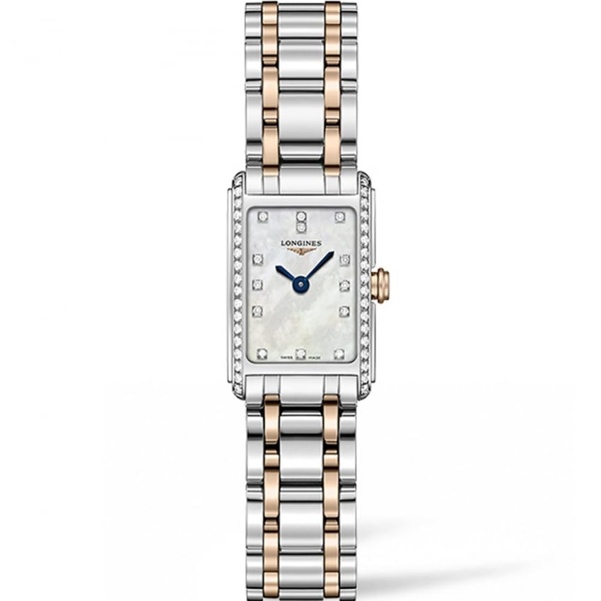 Longines Ladies DolceVita 27mm Diamond Quartz Watch L5.258.5.89.7