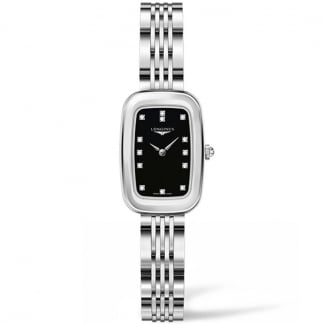 Ladies Equestrian Black Diamond Dial Watch L6.140.4.57.6