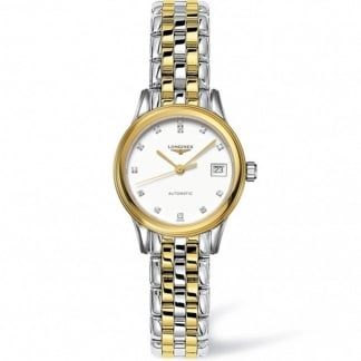 Ladies Flagship Diamond Set Mother of Pearl Watch L4.274.3.27.7