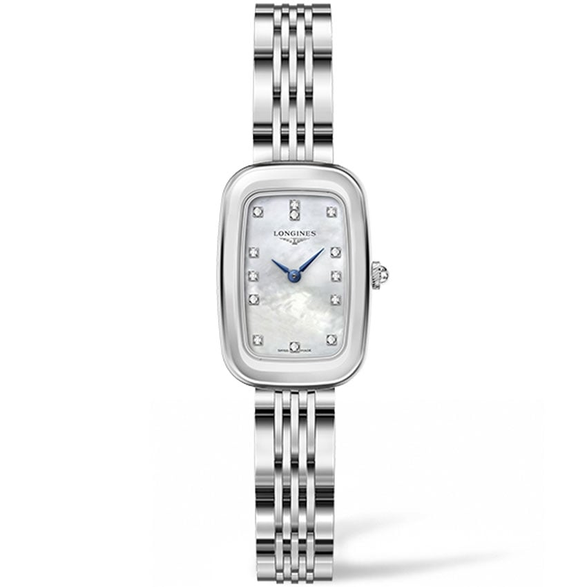 Longines Ladies Mother of Pearl Diamond Equestrian Watch L6.140.4.87.6