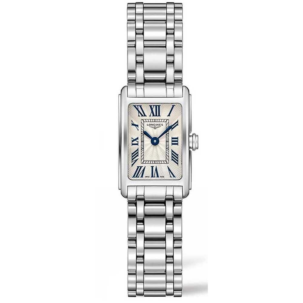 9391a9b4769ccc Longines Ladies DolceVita Roman Numeral Square Quartz Watch ...