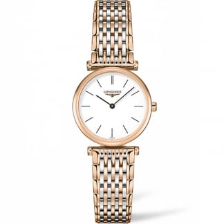 Ladies Rose Gold & Steel La Grande Classique Watch L4.209.1.92.7