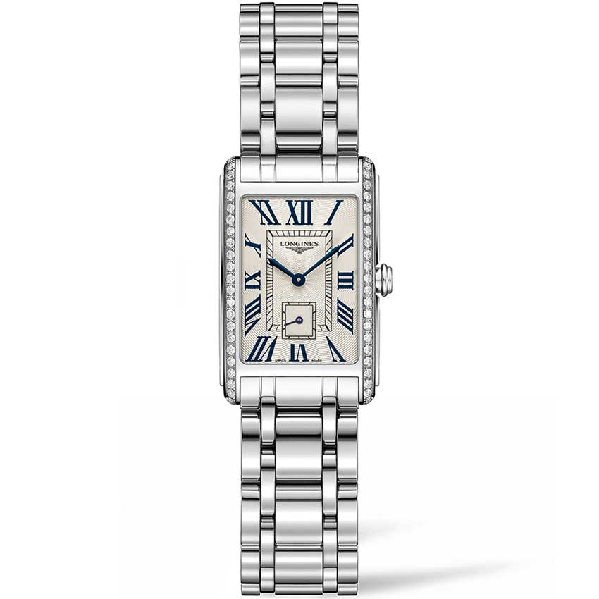 Longines Ladies Steel Quartz Diamond Set DolceVita Watch L5.255.0.71.6