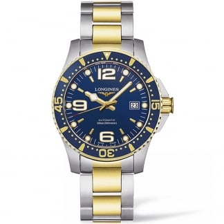 Men's HydroConquest 40MM Two Tone Automatic Watch L3.642.3.96.7