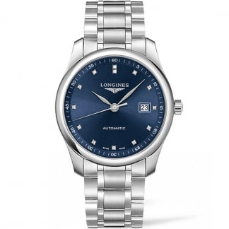 Men's Blue Diamond Dial Master Automatic Watch