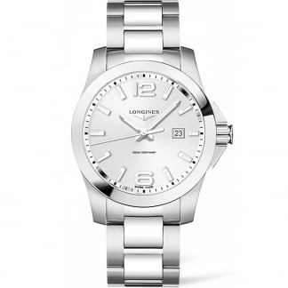 Men's Conquest 41MM Stainless Steel Quartz Watch L3.759.4.76.6