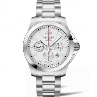 Men's Conquest Automatic 44mm Chronograph Watch