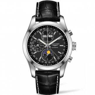 Men's Conquest Classic Automatic Moonphase Watch L2.798.4.52.3