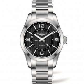Men's Conquest Classic GMT Bracelet Watch L2.799.4.56.6