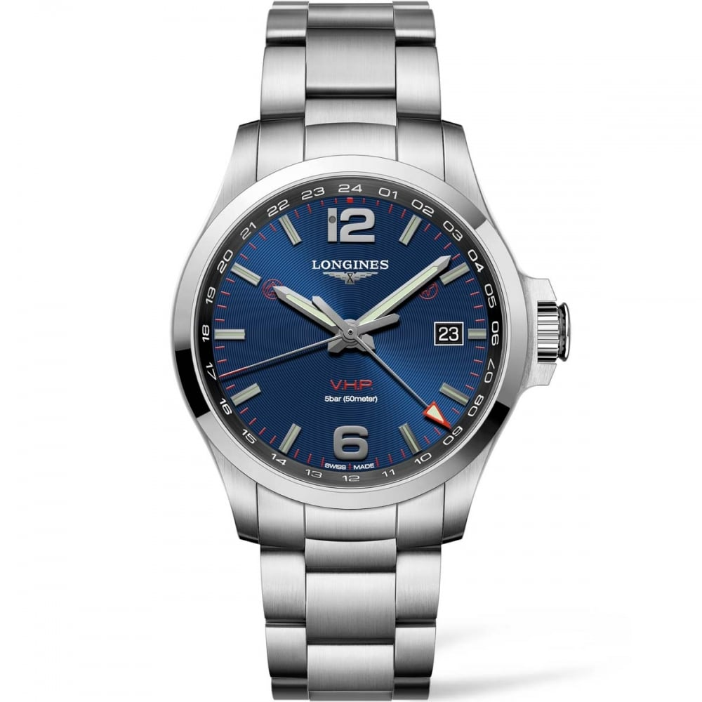 Longines Men's Conquest VHP GMT Steel Quartz Watch ...