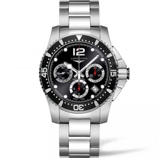 Men's HydroConquest 41mm Automatic Chronograph Watch L3.744.4.56.6