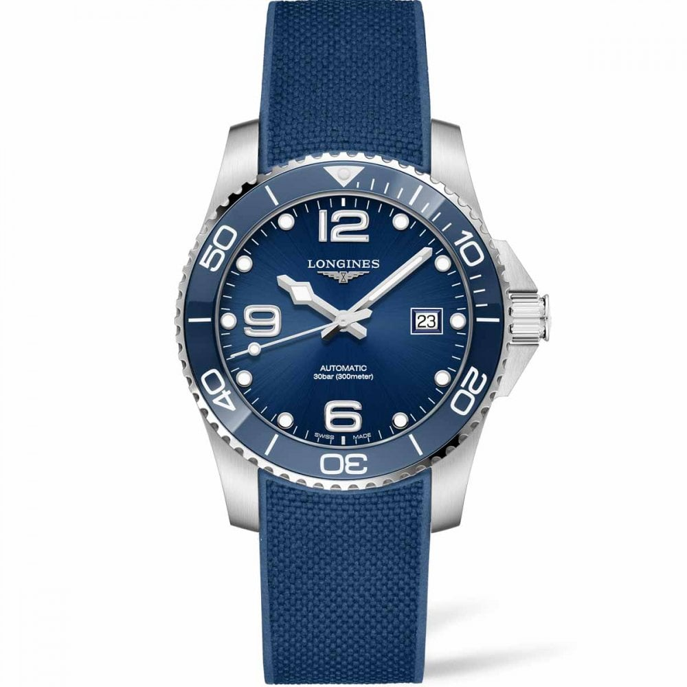 9005db66615 Longines Men s HydroConquest 41mm Blue Rubber Automatic Watch Product Code   L3.781.4.96.9