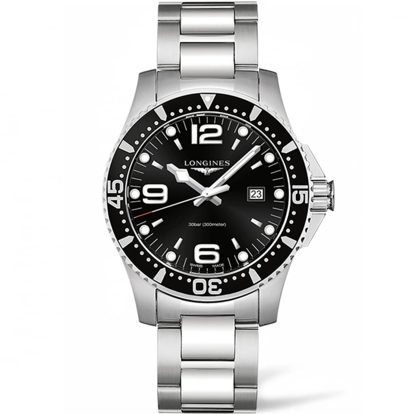 Longines Men's HydroConquest 44mm Black Dial Quartz Watch L3.840.4.56.6