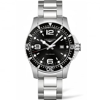 Men's HydroConquest 44mm Black Dial Quartz Watch