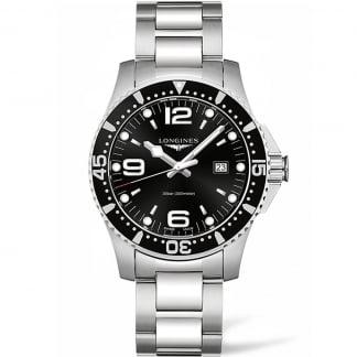 Men's HydroConquest 44MM Black Dial Quartz Watch L3.840.4.56.6