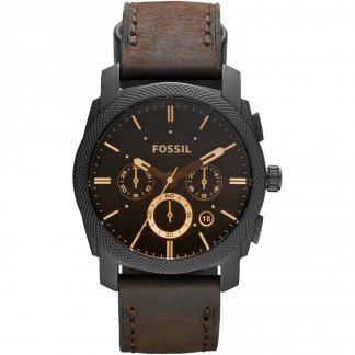 Machine Mid-Size Chronograph Leather Watch