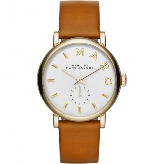 Ladies Baker Tan Leather Strap Watch