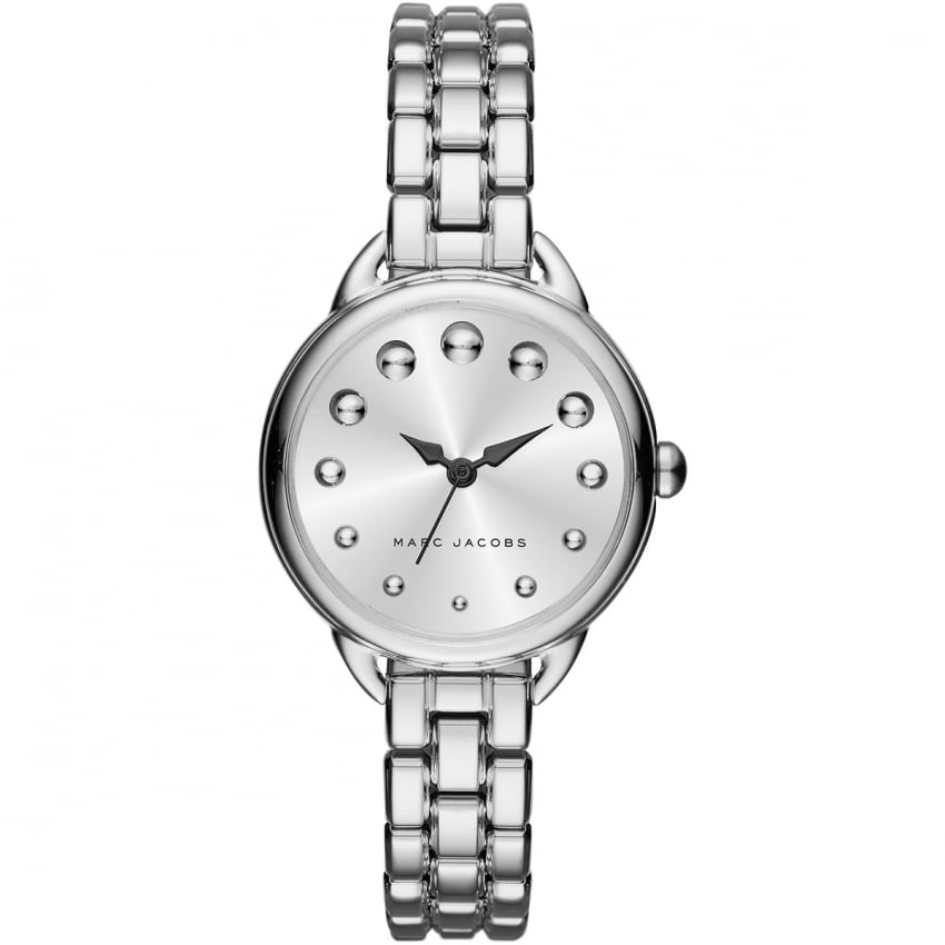 Marc Jacobs Ladies Betty Silver Tone Bracelet Watch MJ3497