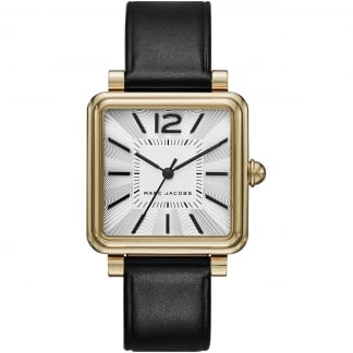Ladies Black Strap with Gold Vic Watch MJ1437