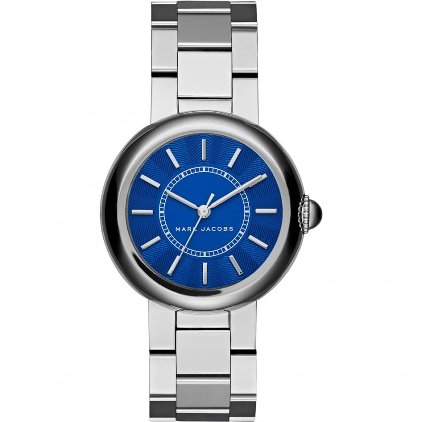Marc Jacobs Ladies Courtney Silver Tone Blue Dial Watch MJ3467