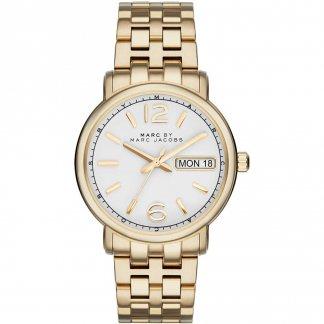 Ladies Fergus Day/Date Gold Tone Bracelet Watch MBM8647