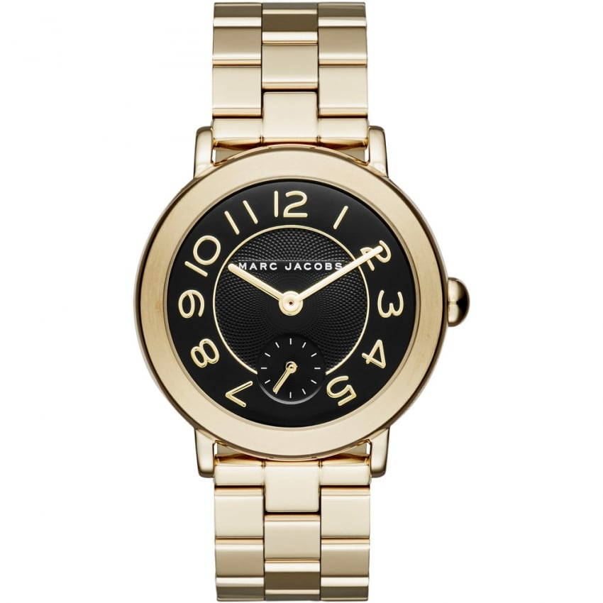 Marc Jacobs Ladies Gold Plated Large Riley Watch MJ3512