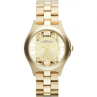Ladies Gold Transparent Dial Henry Watch