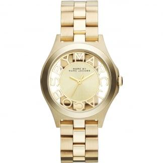 Ladies Gold Transparent Dial Henry Watch MBM3292