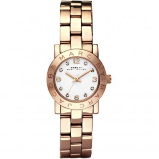 Ladies Rose Gold Tone Mini Amy Quartz Watch MBM3078