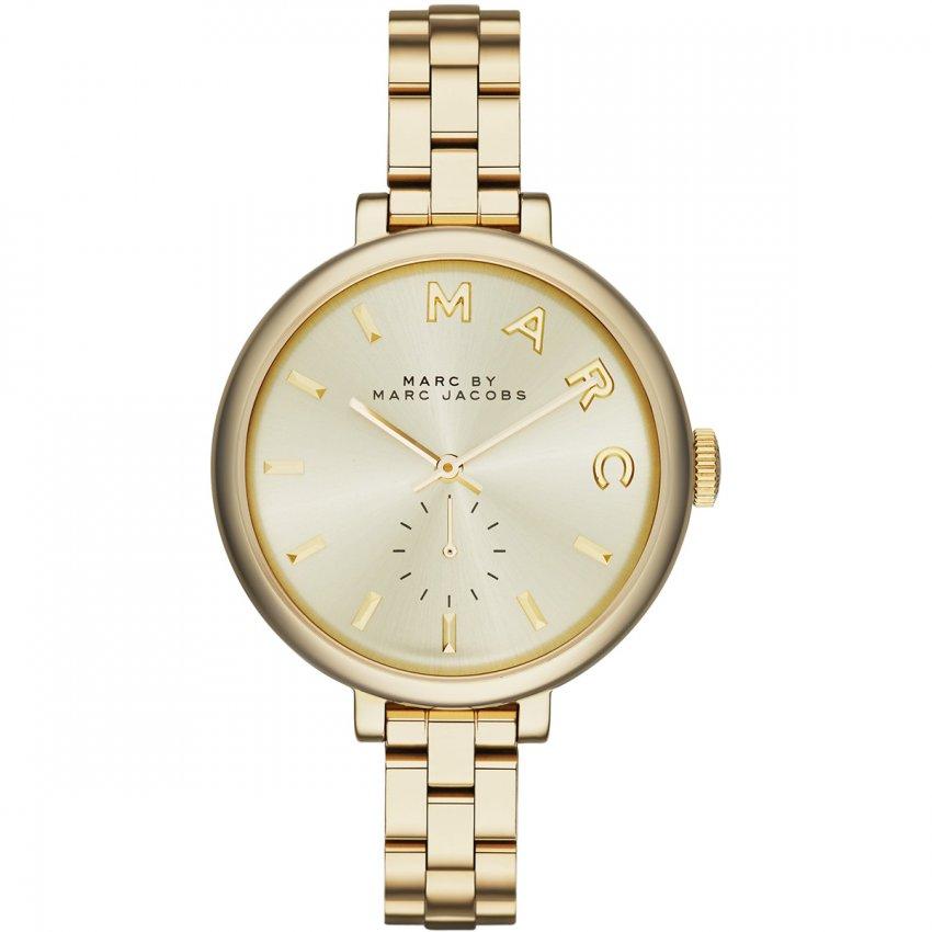 Marc Jacobs Ladies Sally Gold Plated Quartz Watch MBM3363