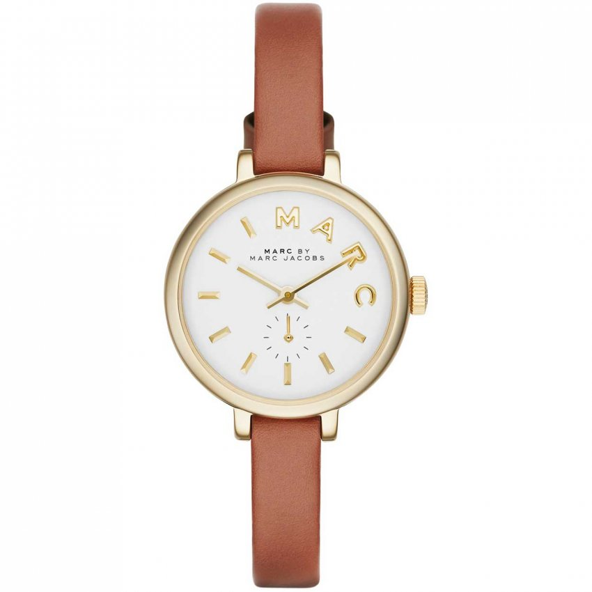 Marc Jacobs Ladies Sally Petite Tan Leather Watch MBM1351