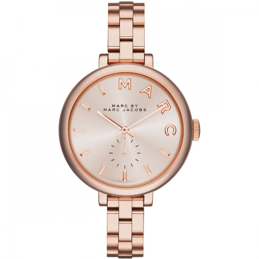 Marc Jacobs Ladies Sally Rose Gold Quartz Watch MBM3364