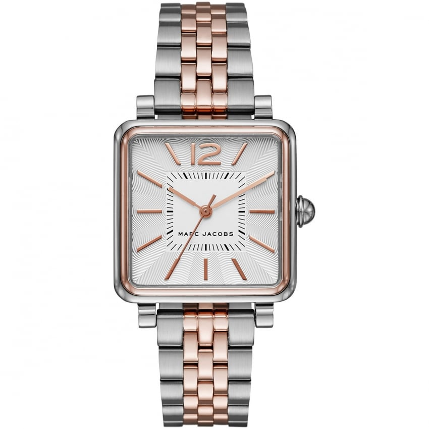 Marc Jacobs Ladies Silver and Rose Two Tone Vic Watch MJ3463
