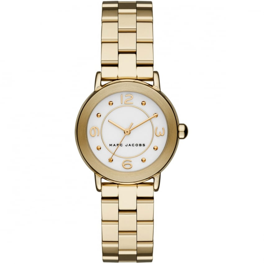 Marc Jacobs Ladies Small Gold Riley Watch MJ3473