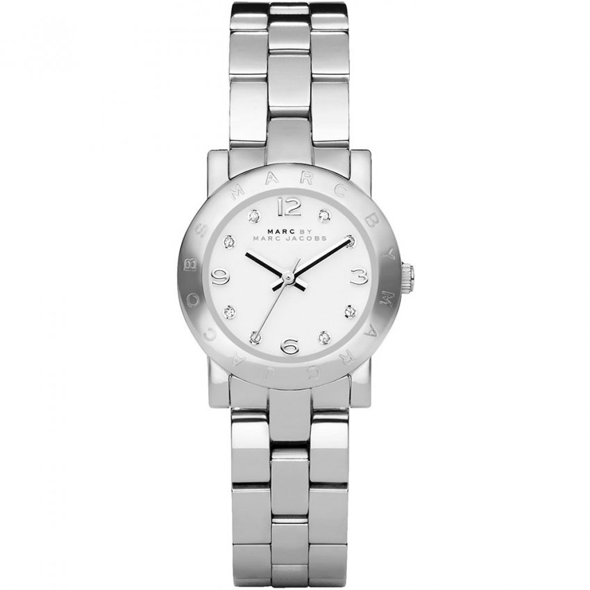 Marc Jacobs Ladies Stone Set Mini Amy Watch MBM3055