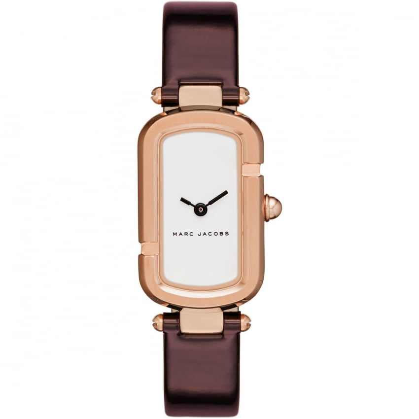 Marc Jacobs Ladies The Jacobs Ox Blood Strap Watch MJ1486