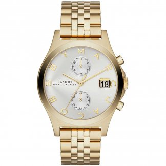 Ladies The Slim Chrono Gold Tone Watch MBM3379