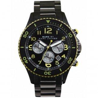 Men's Black PVD Marine Rock Watch MBM5026