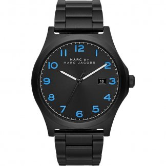 Men's Black Steel Jimmy Bracelet Watch MBM5059