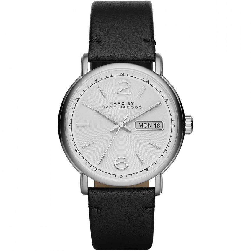 Marc Jacobs Men's Day/Date Black Leather Fergus Watch MBM5076