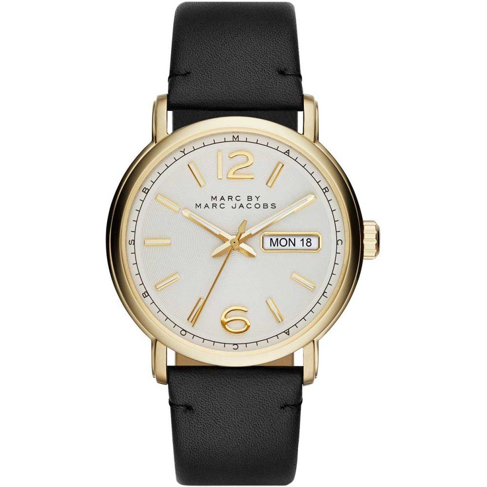 men s marc jacobs mbm5081 fergus watch francis gaye jewellers men 039 s fergus gold tone black strap watch