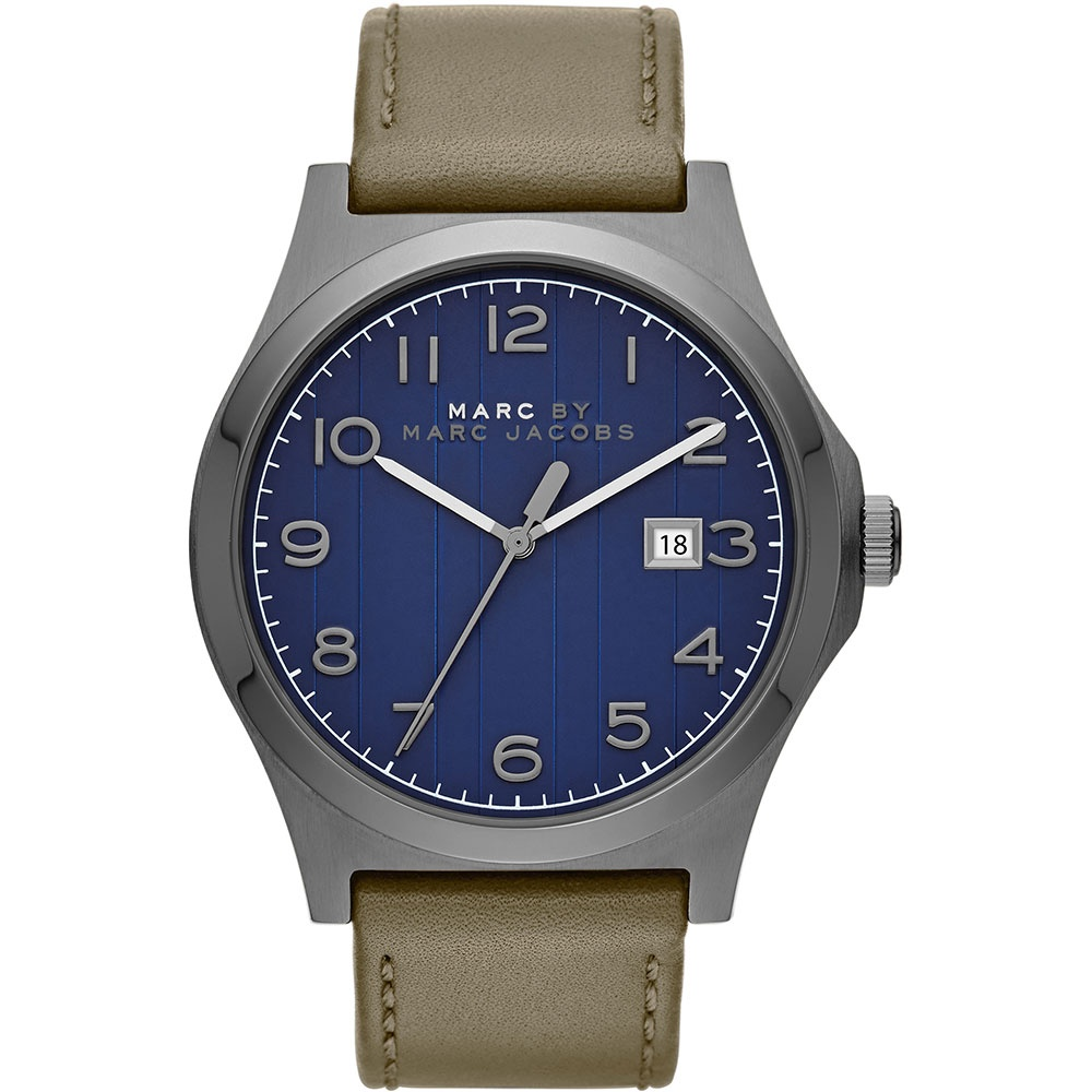 marc jacobs men s mbm5046 jimmy watch francis gaye jewellers men 039 s navy blue dial leather strap jimmy designer watch