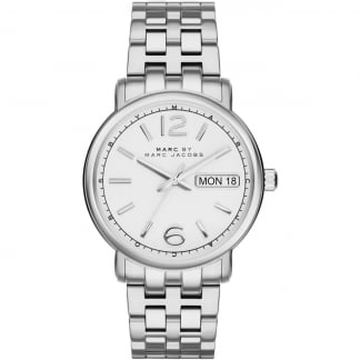 Men's Silver and White Dial Fergus Watch MBM8646