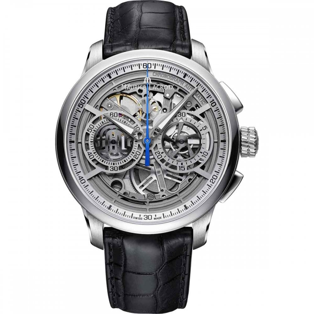 ba8327d3bbdd Maurice Lacroix Men s MASTERPIECE Chronograph Skeleton Watch Product Code   MP6028-SS001-001-1