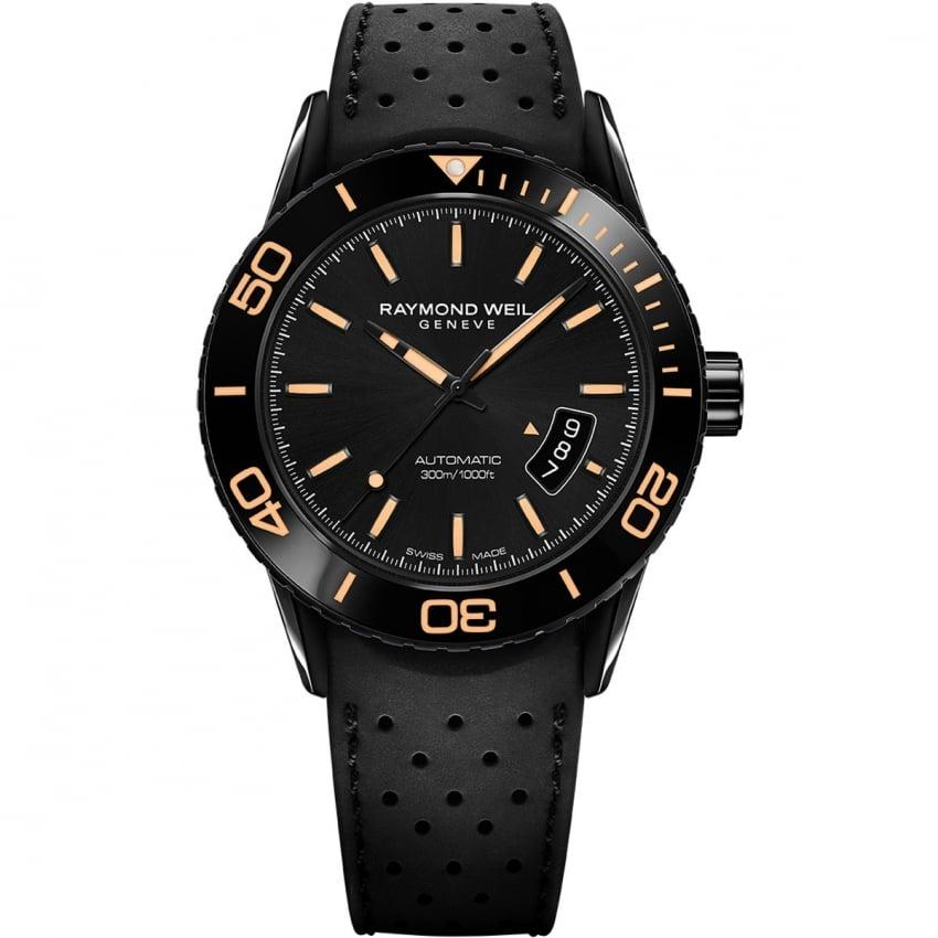 Raymond Weil Men's Automatic Freelancer Watch with Orange Detail 2760-SB2-20001