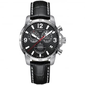 Men's DS Podium Chronograph GMT Leather Quartz Watch
