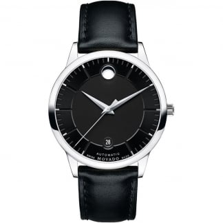 Men's 1881 Automatic Black Leather Watch