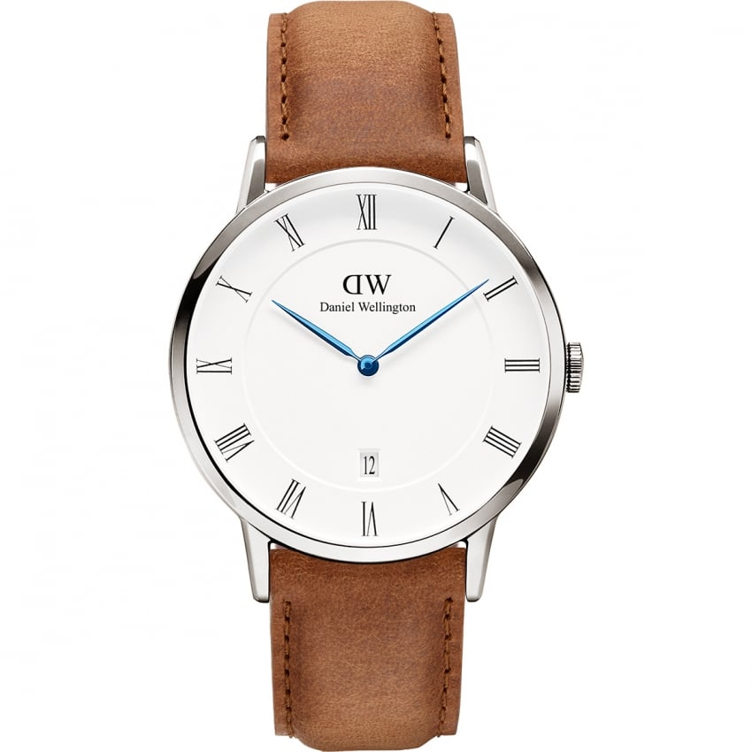Daniel Wellington Men's 38mm Silver Case Durham Watch DW00100116