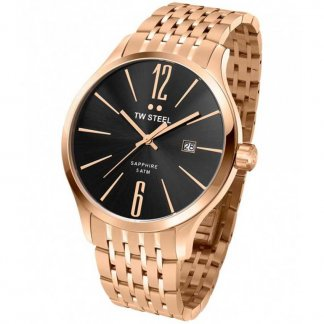 Men's 45MM Rose Gold Slim Line Watch
